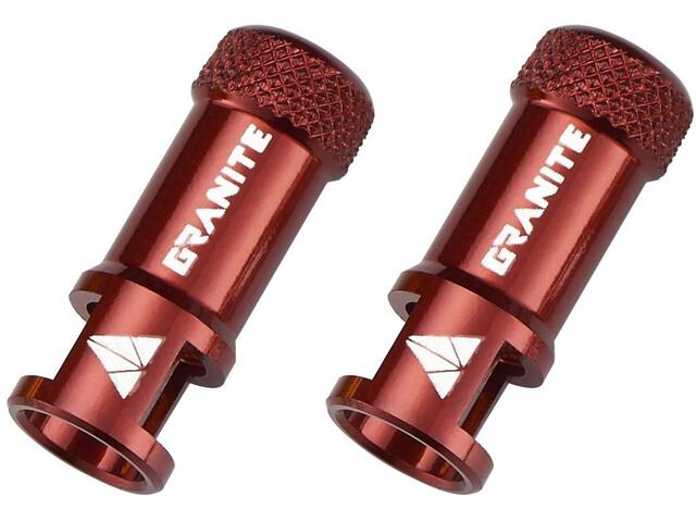 Granite CNC Ventieldopje met Verwijderfunctie 2 stuks, rood